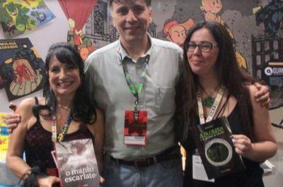 As autoras dos livros que estão com experiências em VR
